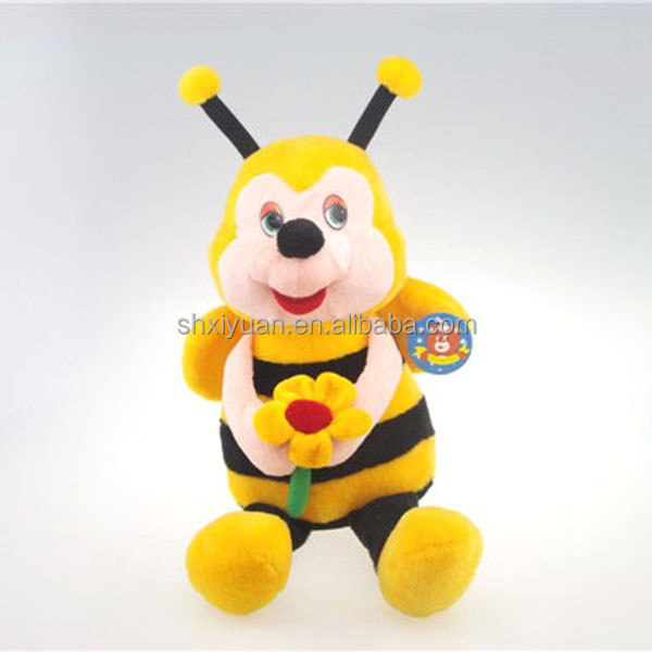 the fiying bee soft plush toys with fiower