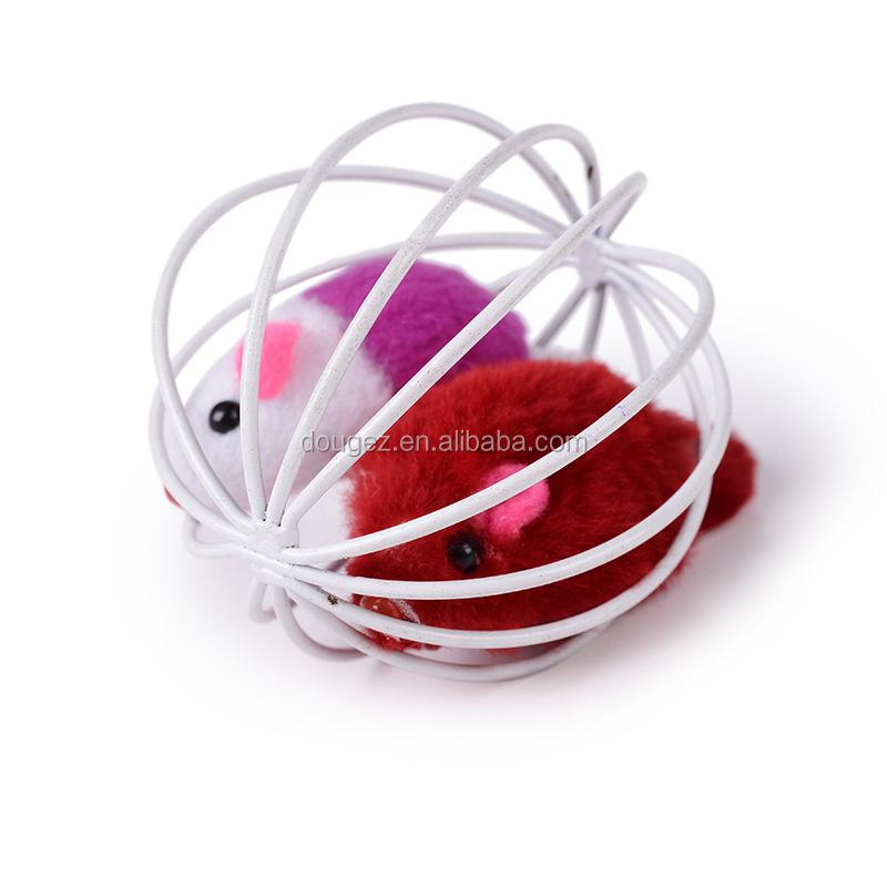 Hight quality mouse inside metal Ball Cat Toys Pet Balls Products feather pet toys
