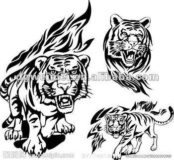Tatuaje Tigre Tribal tigre tribal personalizado cuerpo tatuajes - buy tigre tribal