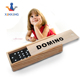 Customized colored wooden domino game set