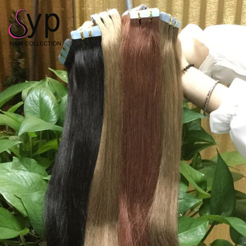 Hotheads High Quality 613 Blonde Russian Virgin Human Adhesive Double Sided Keratin Tape In Hair Extension