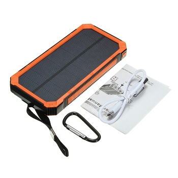 12000mAh Waterproof Solar Power Bank 2USB Battery Portable Charger For Mobile