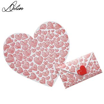 heart shaped mini folding envelope with message card buy mini
