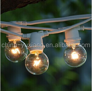with G40 Clear Bulbs 25 ft White Commercial C9 String Light
