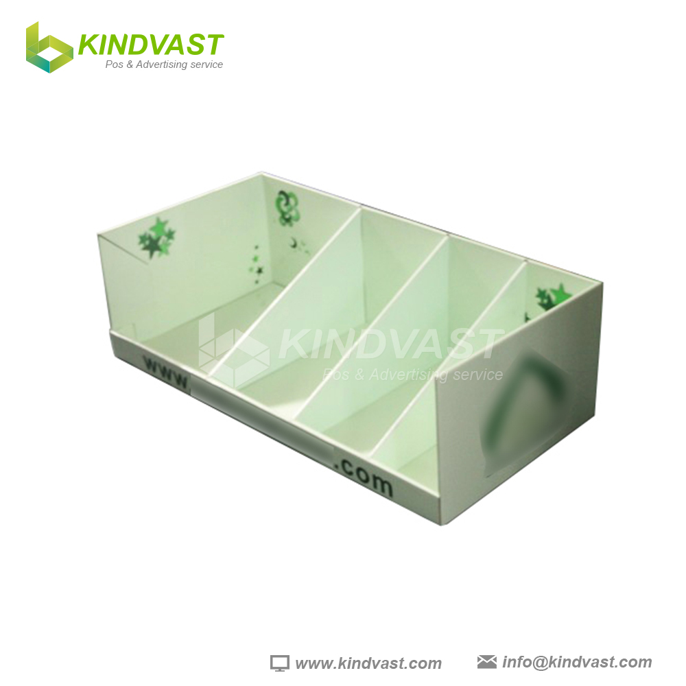 fresh square cardboard counter display unit with divider