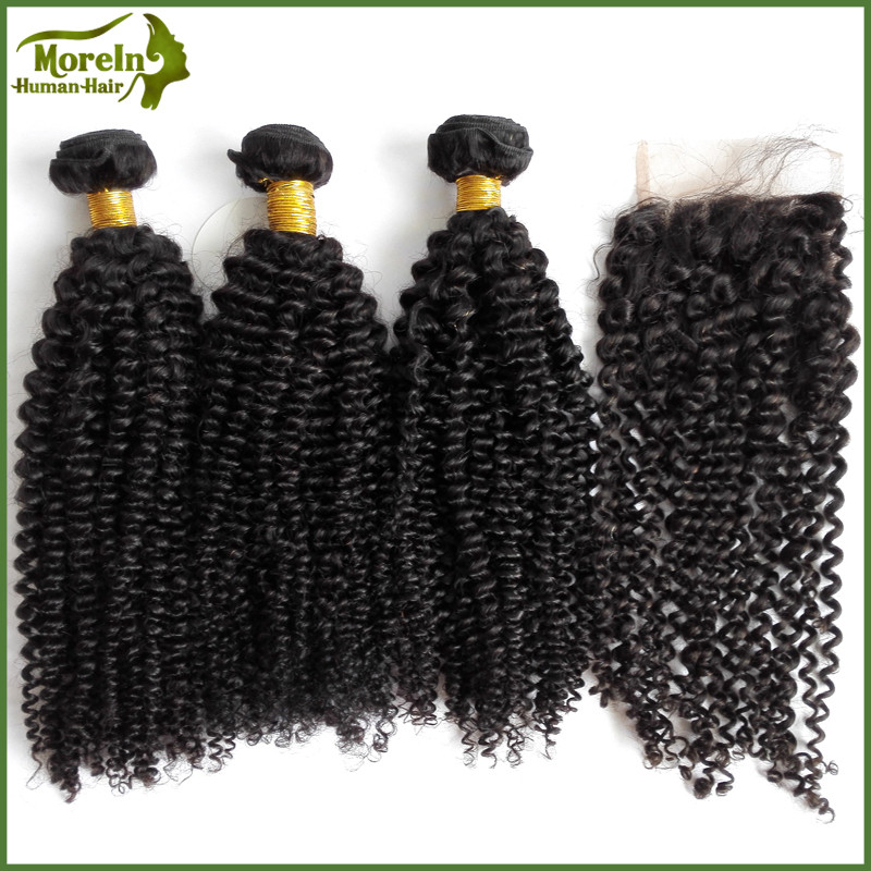 Malaysian hair extension bundles weft kinky curly