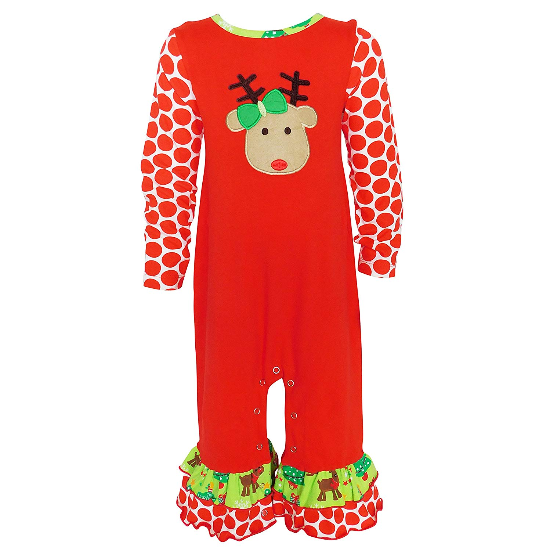 8776c9e00e1 AnnLoren Baby Girls Boutique Polka Dot Heart Cotton Knit Onesie Infant  Bodysuit