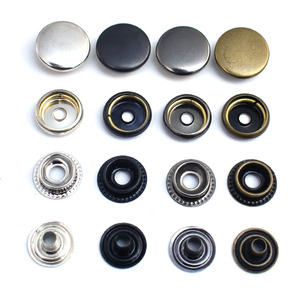15mm O Ring Press Snap Fasteners Button Stud metal copper for handmade Gift Box Scrapbook Craft DIY Sewing Accessories