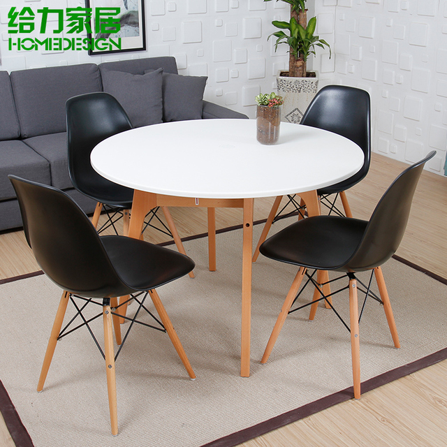 table ronde sous table restaurant rapide blanc mode minimaliste nordic ikea chat caf table. Black Bedroom Furniture Sets. Home Design Ideas