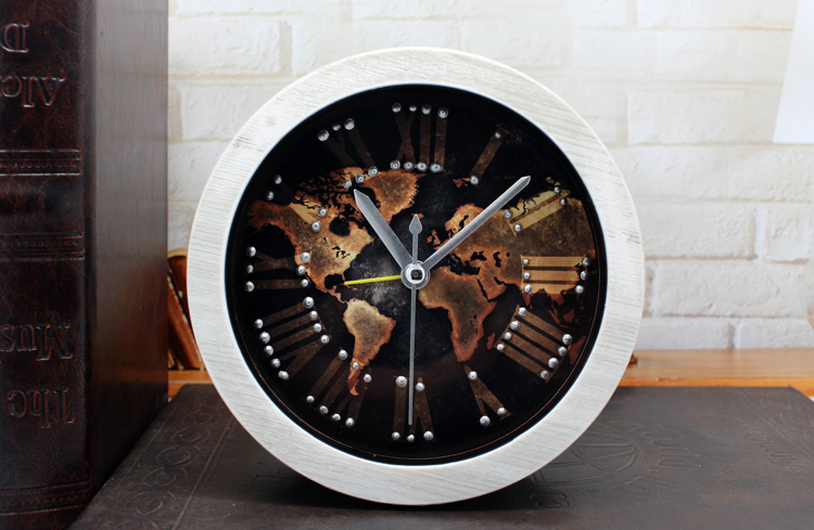 Retro nostalgia europe type 3 d rivet embedded map of the world view larger image retro nostalgia europe type 3 d rivet embedded map of the world digital wooden alarm clock gumiabroncs Images