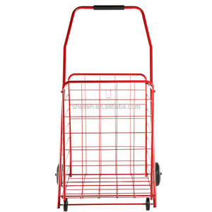 Best grocery shopping cart manufacturer cheap price four wheels metal supermarket used folding shopping trolley for sale