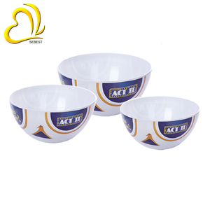 football design cheap plastic round melamine bowl