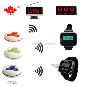 wireless receiver display host/ restaurant waiter call system/ service call button paging system