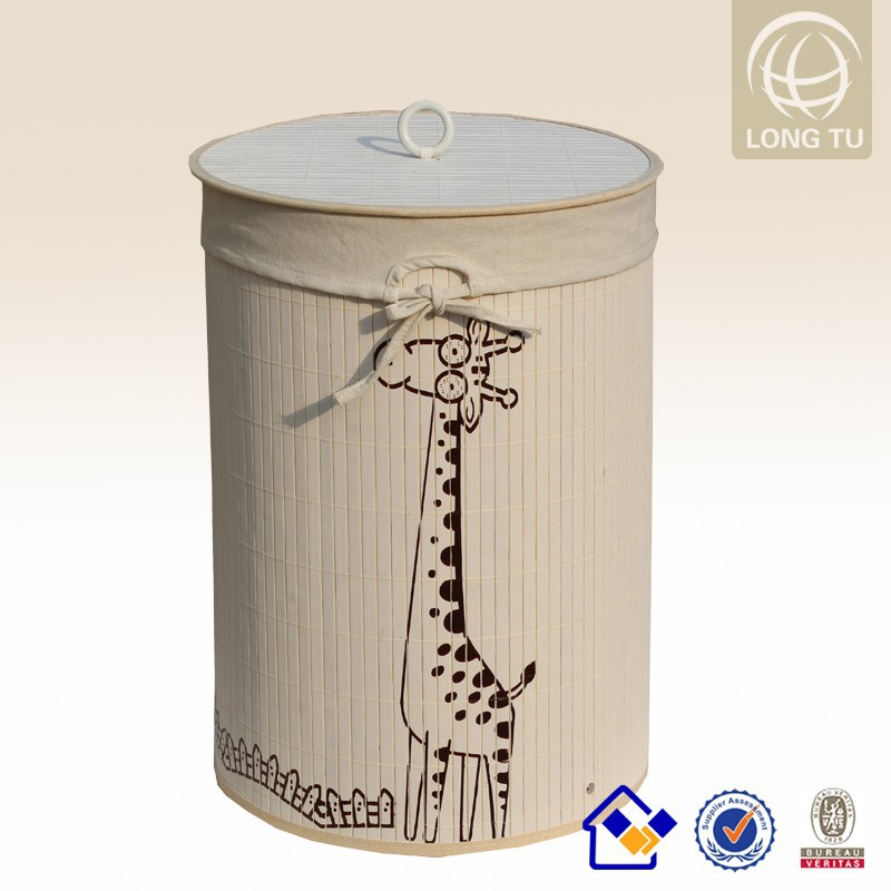 animal laundry basket,double laundry basket with lid