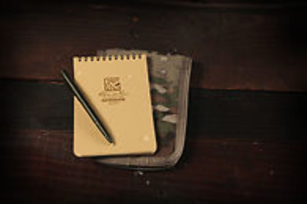 "Rite in the Rain All-Weather 4"" x 6"" Top-Spiral Notebook Kit: MultiCam CORDURA Fabric Cover, 4"" x 6"" Tan Notebook, and All-Weather Pen (No. 946M-KIT)"
