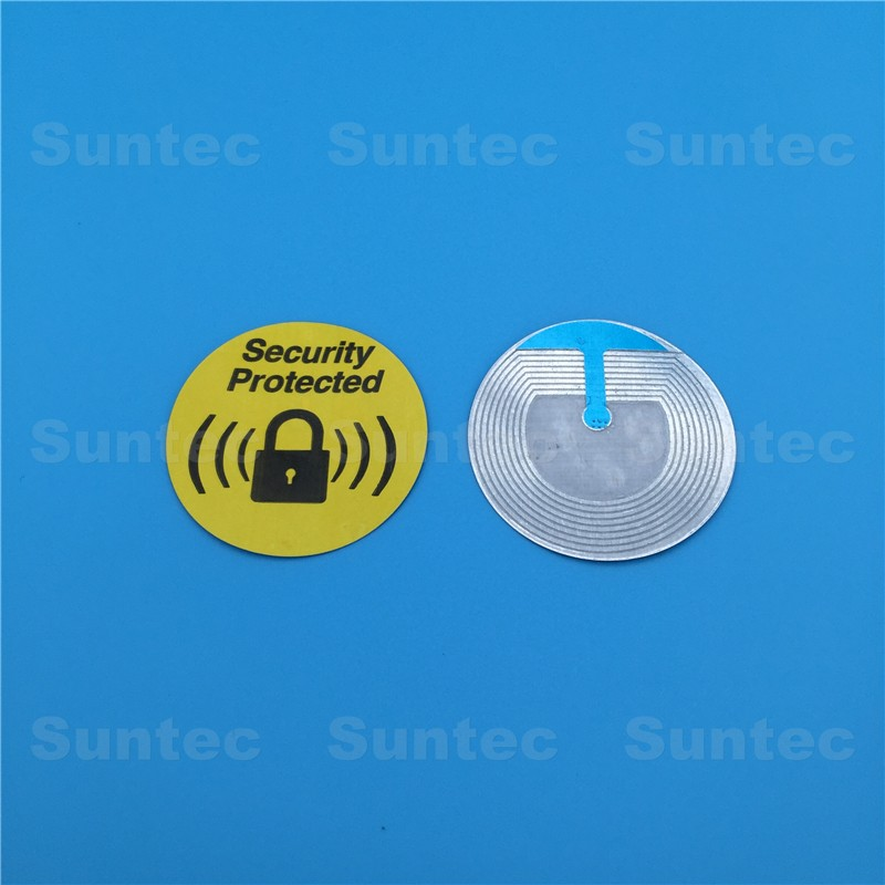 Gold supplier 8.2mhz rf system security soft labels eas label 40x40