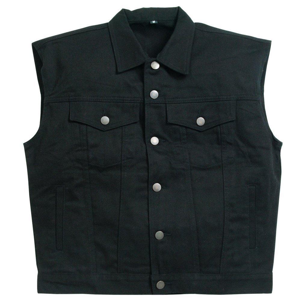 Hot Leathers: Denim Vest - Black L