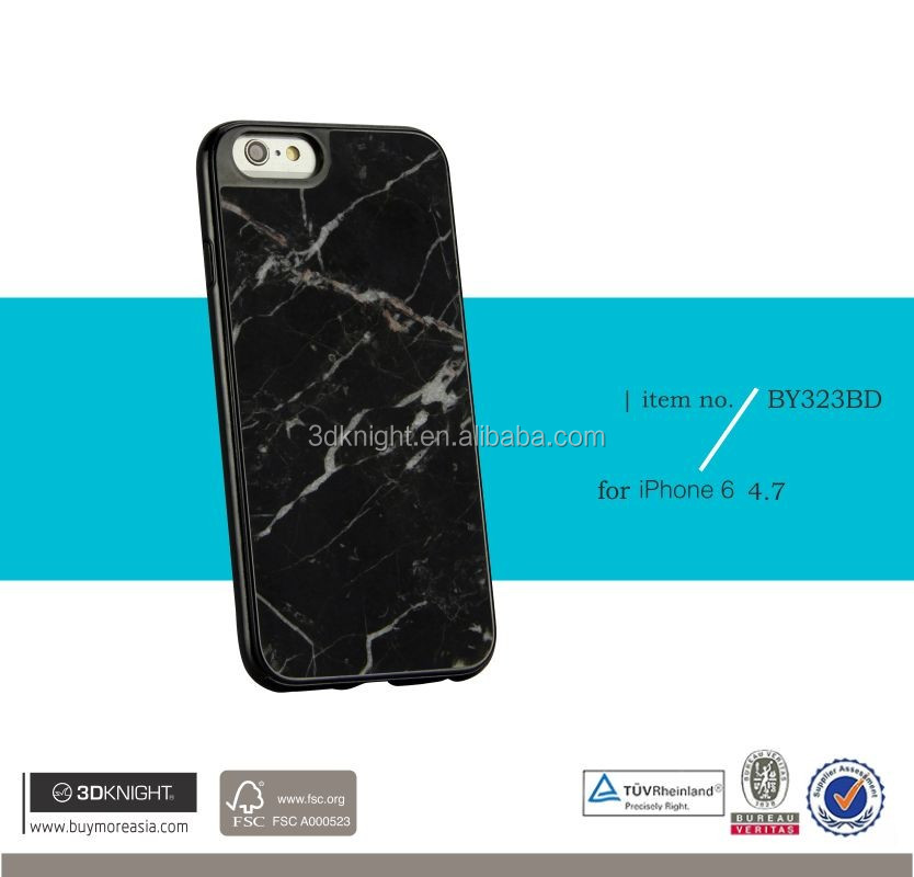 Unique Ultra Thin Marble for iPhone Case, White Black TPU Case for iPhone 6, Luxury Slim Marble Hard Smart Cover