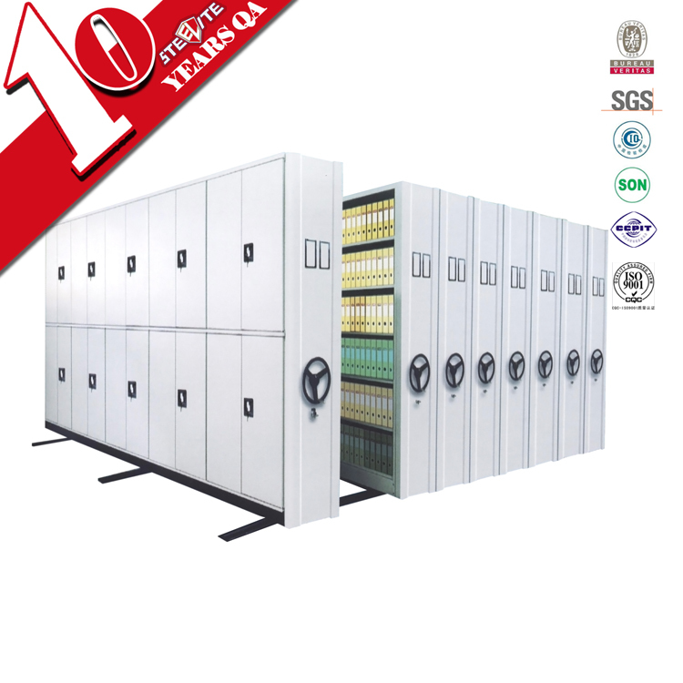 High density archive used electronic moveable compactor filing cabinet/ movable file cabinet rack