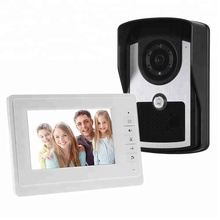 Metal Pin-hole 7 Nightversion TFT Touch Screen Vídeo Porteiro Color Cmos Camera system Intercom 3 Porta Bell Rings PY-V7D-M