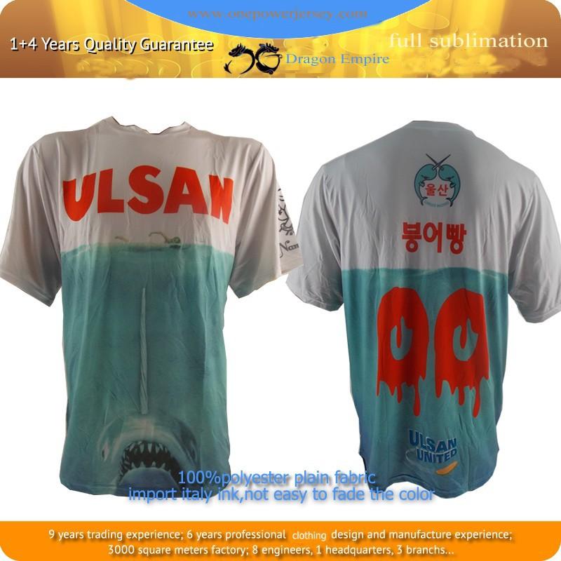 Profissional fresco e seco 100% poliéster sublimação camisas esportes t 2f4897f585087