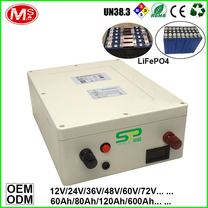 Rechargeable lithium ion battery with deep cycle life 12v for electric cart or boat motor or electric golf cart