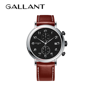 Customized geunlne leather stray stainless steel watches