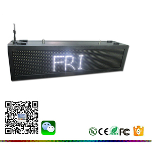 86(L)x22(H)x17.5(D)cm LED Display time,temperature,date, Red color DIP LED advertising Screen