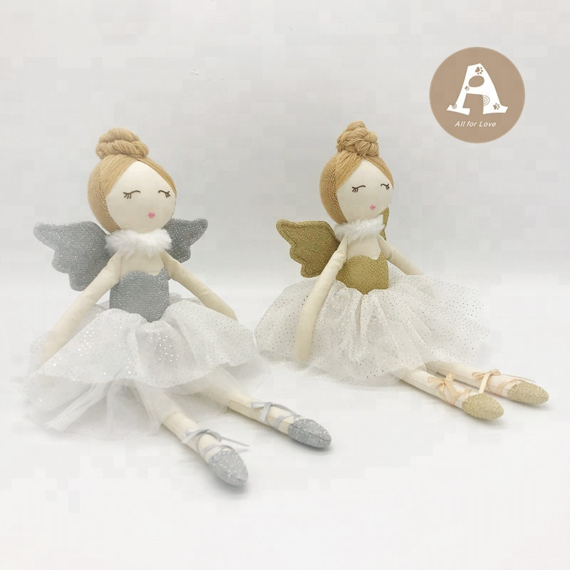 Wholesale stuffed Angel Plush <strong>Doll</strong> with Wings for Christmas promotion gift
