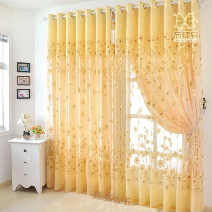 acheter luxe ready made rideaux et tulle pour le salon ombre organza tissu. Black Bedroom Furniture Sets. Home Design Ideas