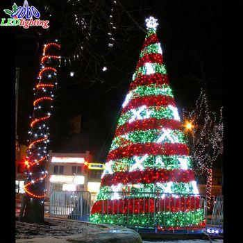 5ft 6ft7ft decoratieve blad gemengde kerstboom kunstmatige kerstboom verlicht buiten draadmetal