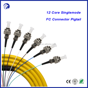 FC/UPC fiber optic pigtail 12 core bundle cable pigtail