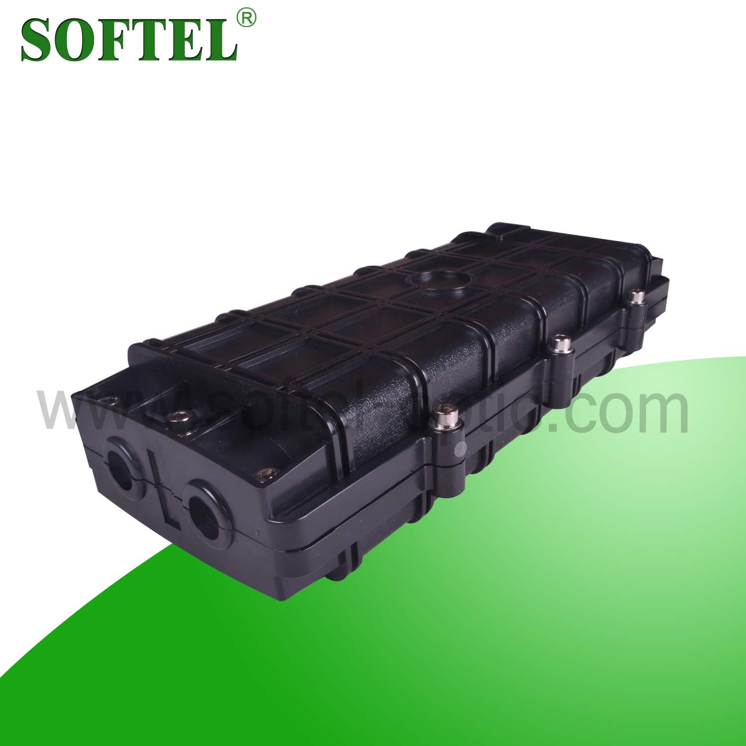 48 cores horizontal fiber optic splice closure | direct burial inline cable joint box