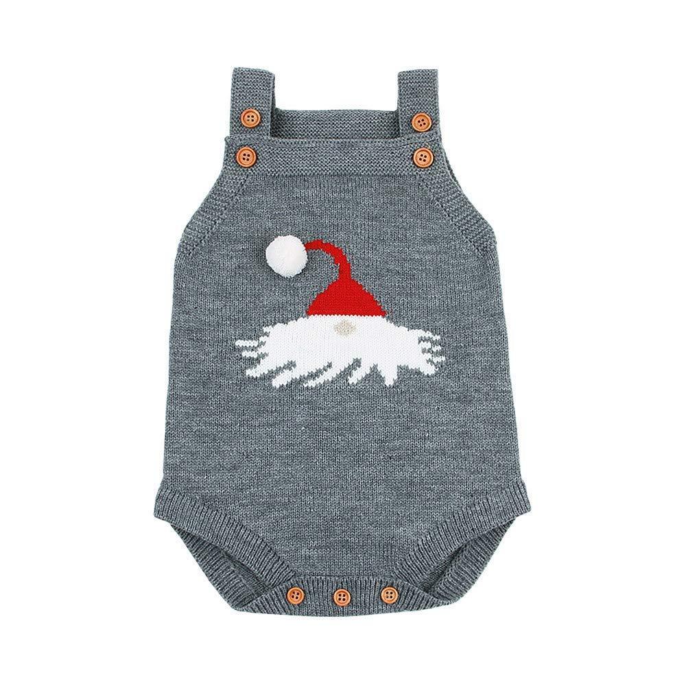 5c3295d76f8240 Get Quotations · JPOQW Christmas Sweater Vest Knit Romper Cartoon Pattern  Sleeveless Jumpsuit Clothes for Newborn Baby Girls Boys