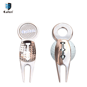 2018 New Arrival Metal Golf Divot Repair Tool With Magnetic Ball Marker , Logo Custom Golf Accessory D129