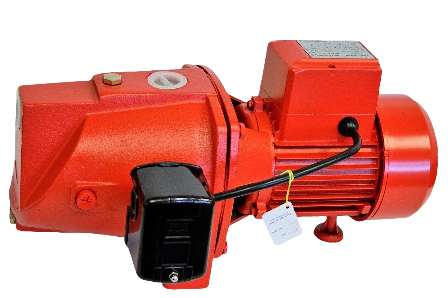Hallmark Industries MA0345X-6 Shallow Well Jet Pump with Pressure Swith, Heavy Duty, 1/2 hp, 12.5 GPM, 115V/230V