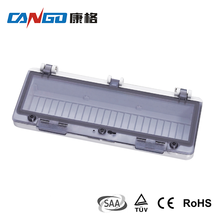 Kangge 0412 High Standard IP67 PC Plastic Transparent Contact Protection Window Hood for Distribution Box