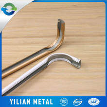 white metal material double curtain rods and rails