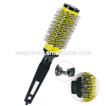 Professional salon ceramic detachable round hair brush set with six heads