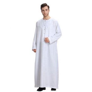 Arab Middle Eastern Long Sleeve Solid Color Men modern islamic cape style dubai 3d abaya and hijab