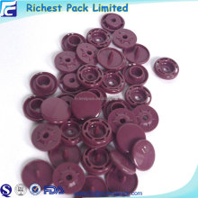 15mm plain plastic snap fasteners button plastic snap for cap closure
