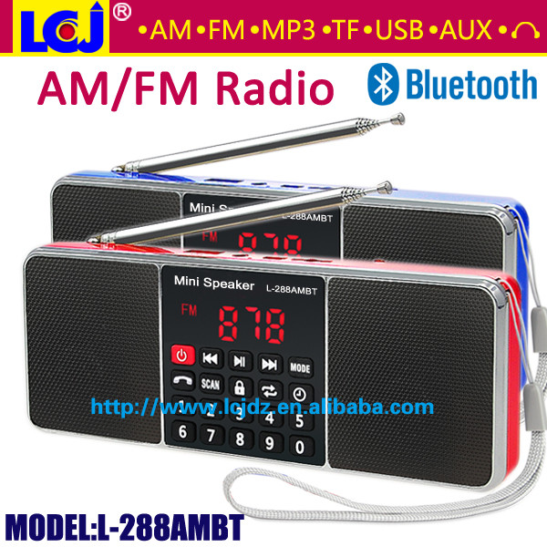L-288AMBT portable mini MP3 player AM FM radio bluetooths speaker