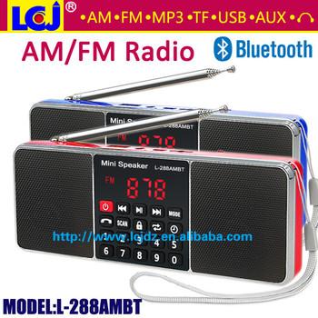 L-288ambt Portable Mini Mp3 Player Am Fm Radio Bluetooth Speaker ...