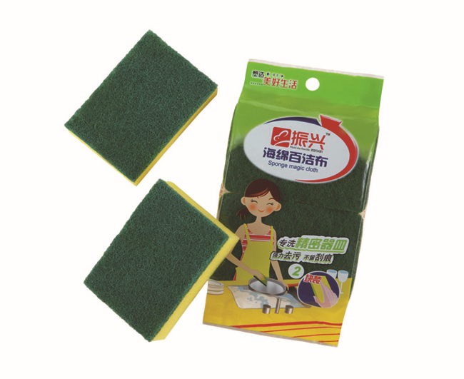 kitchen cleaning pad scrupper heavy duty dirt sponge wholesale trade assurance