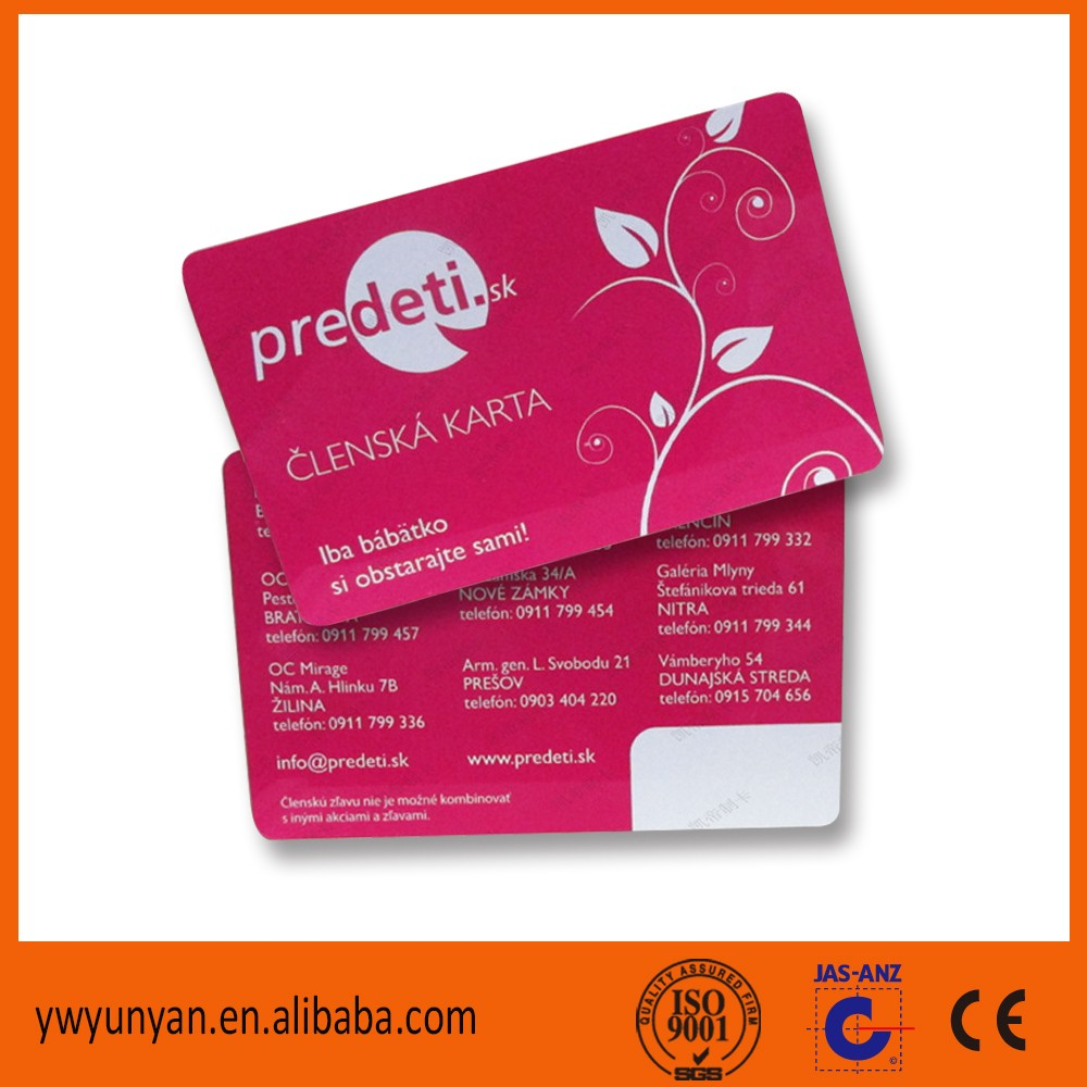 Free Sample Pvc Id Card/Membership ID  Membership Card Samples