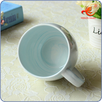 Custom made emboosed logo white porcelain 11oz cups China manufacturer