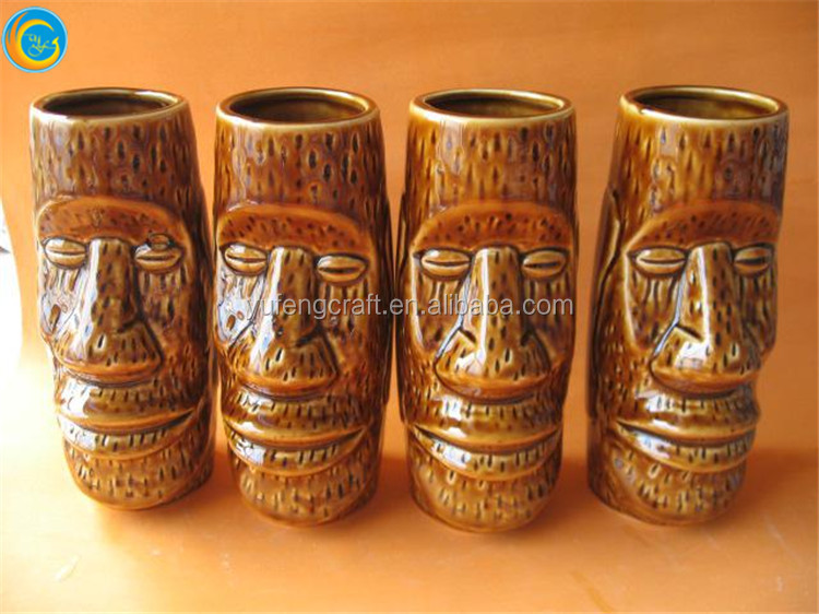 wholesale ceramic craft ceramic wholesale tiki mugs
