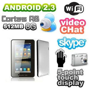 "Pad A10 Capacitive 7"" Tablet PC 1.5 Ghz MID Android 2.3"