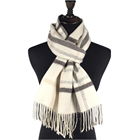 2018 China factory printed wool plaid scarf for ladies