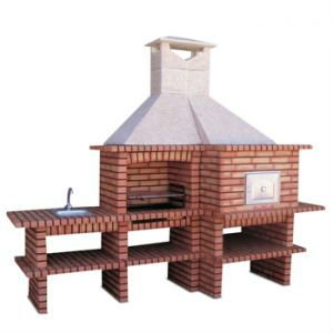 Brick Barbecue With Sink And Oven Bbq Av510 Sand
